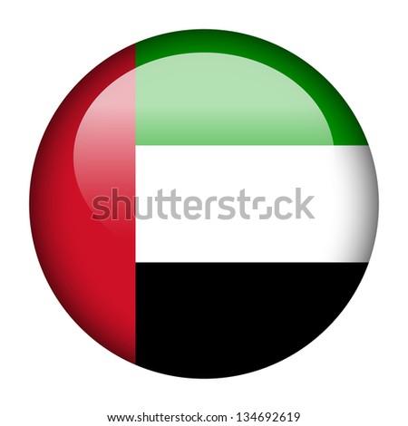 Flag button illustration - United Arab Emirates - stock photo
