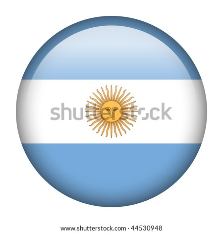 Flag button series of all sovereign countries - Argentina