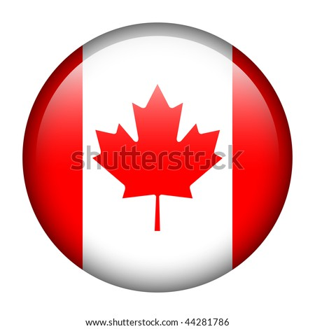 Flag button series of all sovereign countries - Canada - stock photo