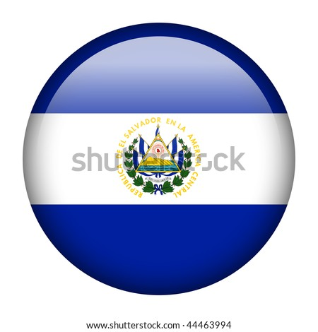 Flag button series of all sovereign countries - El Salvador - stock photo