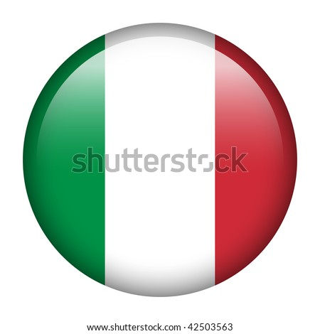 Flag button series of all sovereign countries - Italy - stock photo