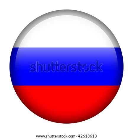 Flag button series of all sovereign countries - Russia - stock photo