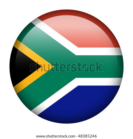 Flag button series of all sovereign countries - South Africa