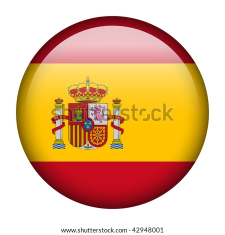 Flag button series of all sovereign countries - Spain - stock photo