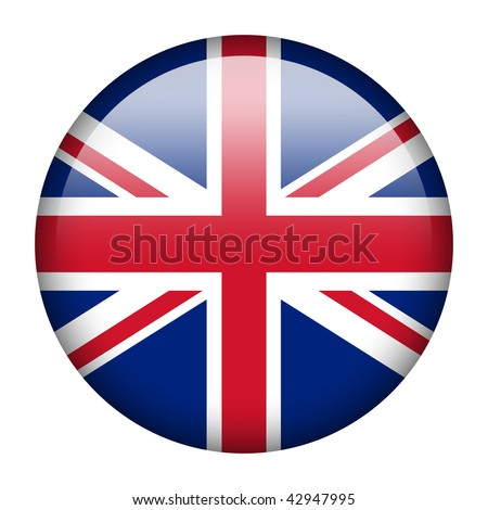 Flag button series of all sovereign countries - United Kingdom - stock photo