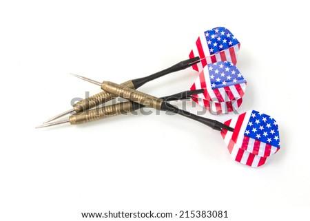 Flag dart isolate on white background - stock photo