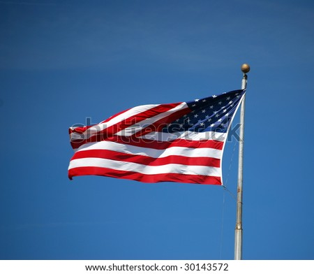 Flag flapping in the wind