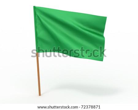 flag fluttering in the wind. Libya. 3d - stock photo
