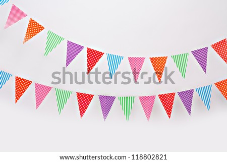 Flag garland - stock photo