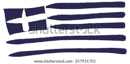 Flag Greece - stock photo