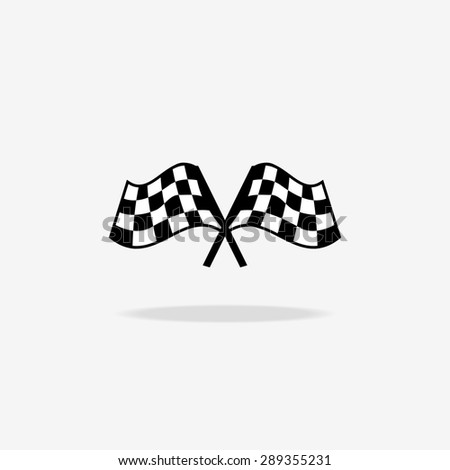 Flag icon. Checkered or racing flags. Sport auto, speed and success, competition and winner, race rally - stock photo