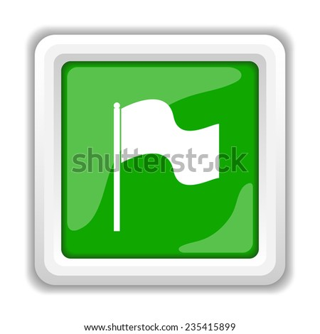 Flag icon. Internet button on white background.  - stock photo