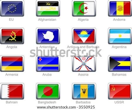 Flag icon set (part 1) - stock photo