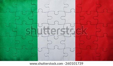 flag italy - stock photo