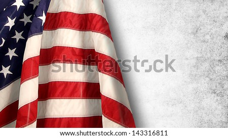 flag 4 july - stock photo