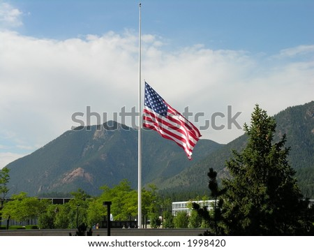 Flag lowered