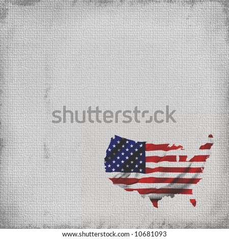 Flag Map Of America In Grunge Background - stock photo