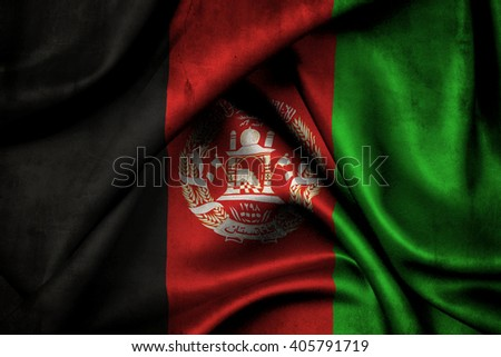 Flag of Afghanistan since 2004 - stock photo