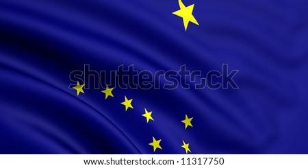 Flag Of Alaska - stock photo