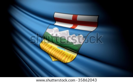 Flag of Alberta (Canada) - stock photo