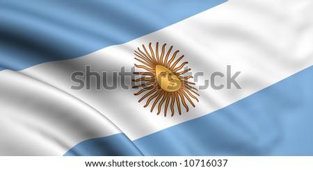 Flag Of Argentina - stock photo