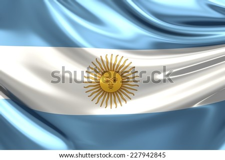 Flag of Argentina. - stock photo