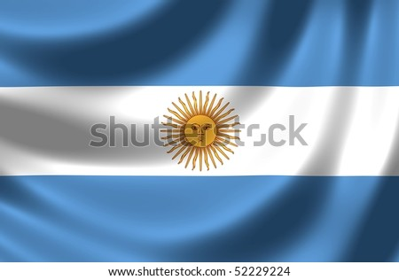 Flag of Argentina - stock photo