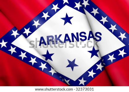 Flag of Arkansas (USA) - stock photo