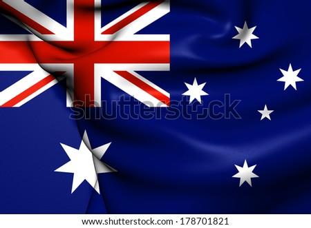 Flag of Australia.  - stock photo