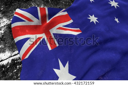 Flag of Australia grunge concept. 3D illustration.