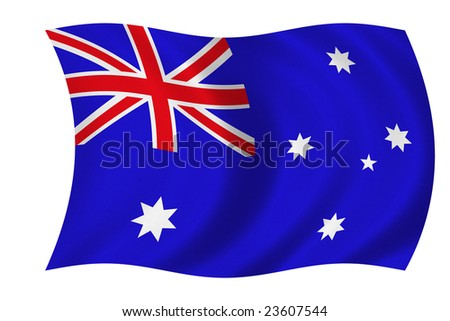 Flag of Australia isolated on a white background