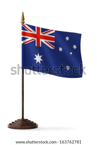 flag of Australia - table flag - stock photo