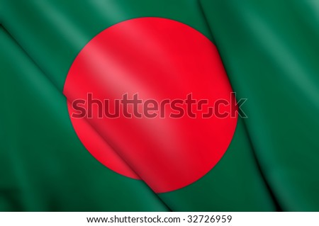 Flag of Bangladesh - stock photo