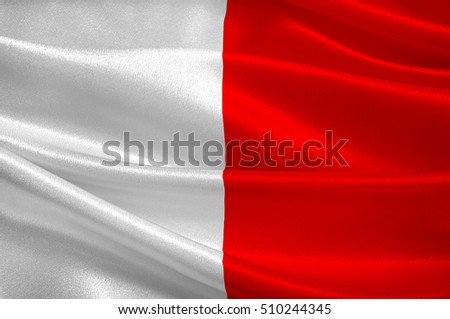 Flag of Bari is the capital city of the Metropolitan City of Bari and of the Apulia region, Italy. 3d illustration