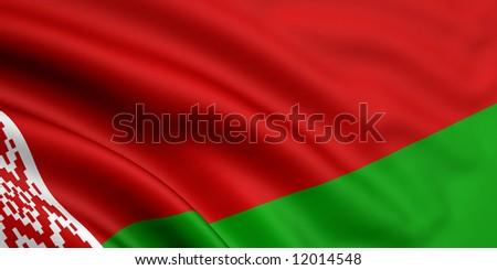 Flag Of Belarus - stock photo