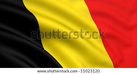 Flag Of Belgium - stock photo