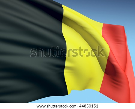 Flag of Belgium - stock photo