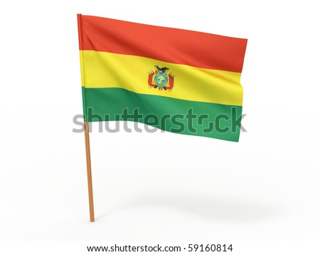 Flag of bolivia . 3d