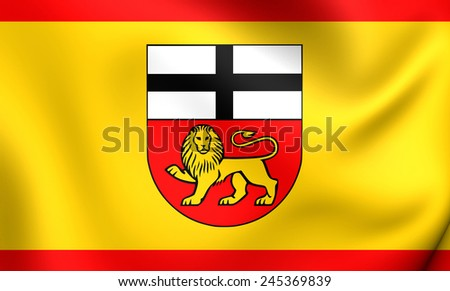 Flag of Bonn, Germany. Close Up. - stock photo