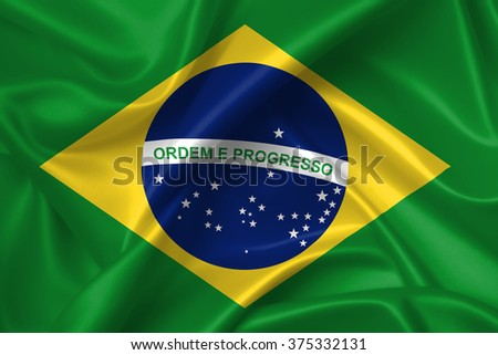 Flag of Brazil 3D, silk texture