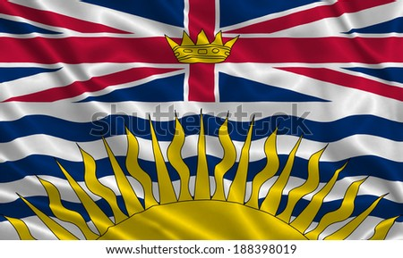 Flag of British Columbia - stock photo