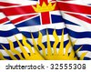 Flag of British Columbia (Canada) - stock vector