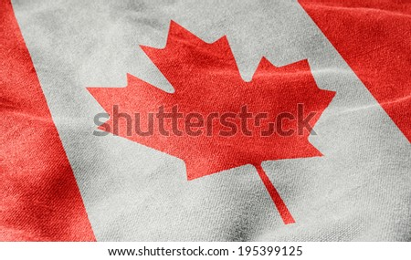 Flag of Canada - stock photo