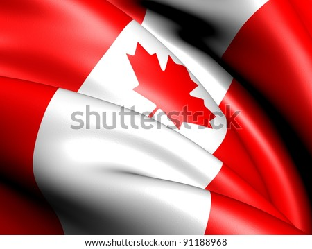 Flag of Canada. Close up. - stock photo