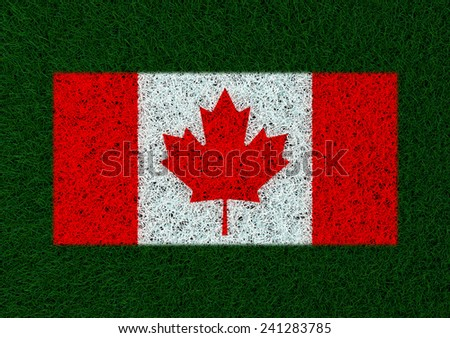 flag of Canada grass texture - stock photo