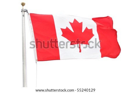 Flag of Canada Isolated on a White Background - stock photo