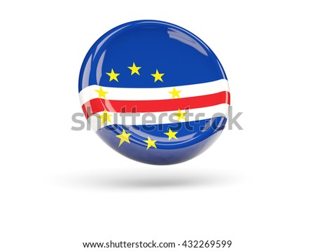 Flag of cape verde, round icon. 3D illustration