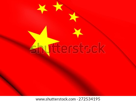 Flag of China. Close Up.