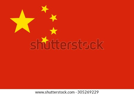 Flag of China. Color style.