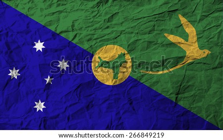 Flag of Christmas Island with old texture.  illustration - stock photo